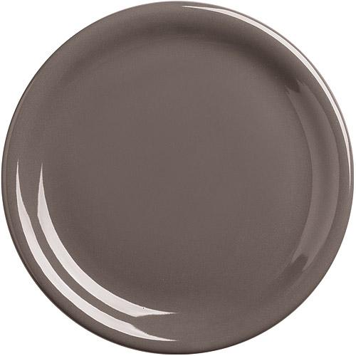 ~EXCELSA~Fashion陶製淺餐盤^(深褐19.5cm^)