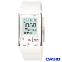 CASIO卡西歐 新幾何積木方塊風格電子腕錶-白 LDF-52-7A