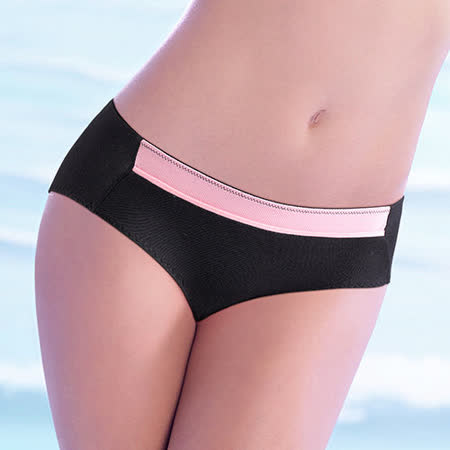 【黛安芬】動生活運動系列平口內褲 M-EL(撞色黑)