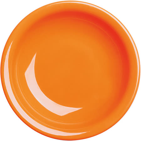 《EXCELSA》Fashion陶製深餐盤(橘22cm)