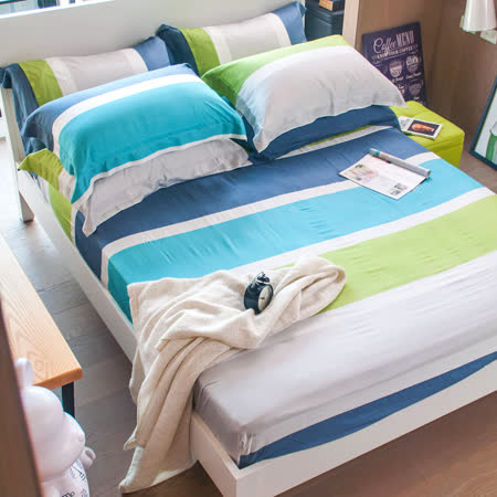 OLIVIA 《托尼》天絲 雙人床包歐式枕套三件組 全程台灣生產製造
