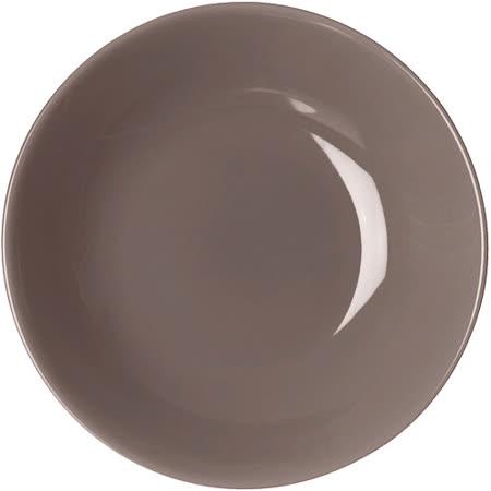 《EXCELSA》Trendy陶製深餐盤(深褐20cm)