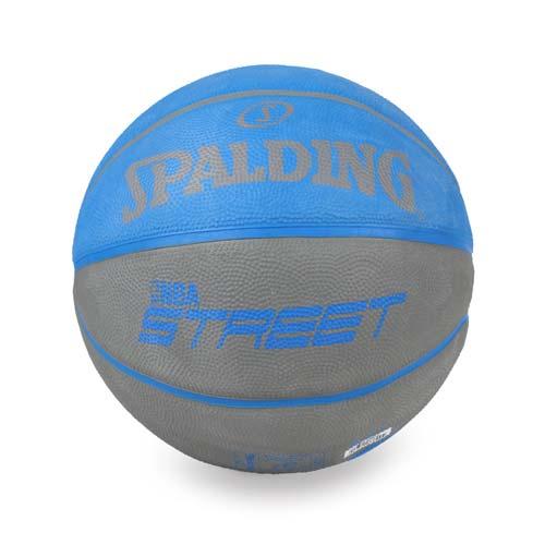 SPALDING STREET 雙色sogo 手機斯伯丁籃球-戶外 7號球 街頭 藍灰 F
