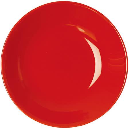《EXCELSA》Trendy陶製深餐盤(紅20cm)