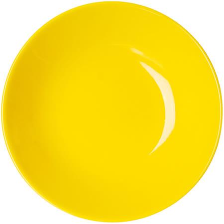 《EXCELSA》Trendy陶製深餐盤(黃20cm)