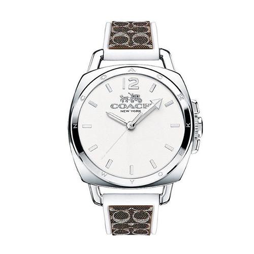COACH 中性時尚LOGO大錶面女用腕錶/38mm/CO14502227/精品/馬車