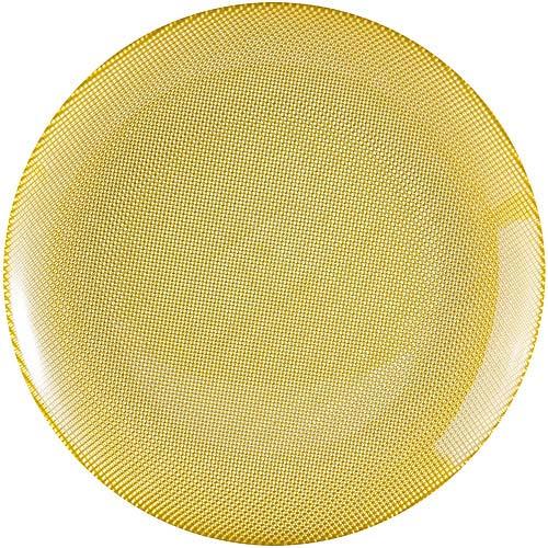 ~EXCELSA~Diamond菱紋玻璃淺餐盤^(綠25cm^)