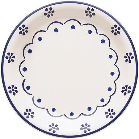 《EXCELSA》陶製淺餐盤(花繪27cm)
