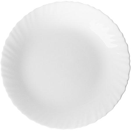 《EXCELSA》Wave白瓷淺餐盤(25cm)