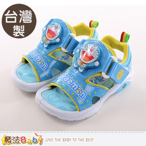 魔法Baby~男童鞋 台灣製哆啦A夢正版閃燈運動涼鞋 sa60616