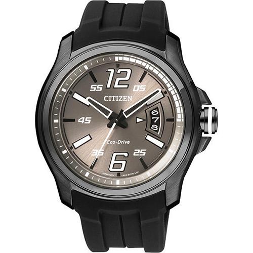 CITIZEN Eco~Drive 光動能競速 風格腕錶~灰x黑42mm AW1354~0
