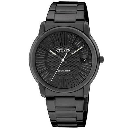 CITIZEN Eco-Drive 新都會風雅 光動能女錶(IP黑/ FE6015-56E )