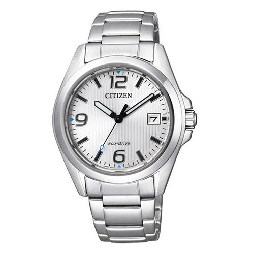 CITIZEN~PAIR~輕漾活力光動能女用中性腕錶^(銀~36mm~FE6030~52A