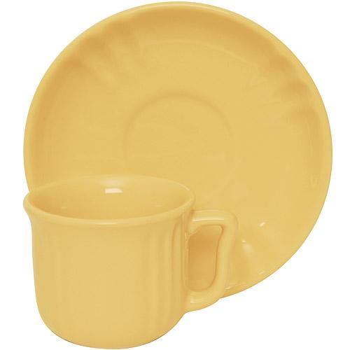 ~EXCELSA~Chic陶製咖啡杯碟組^(奶油黃90ml^)
