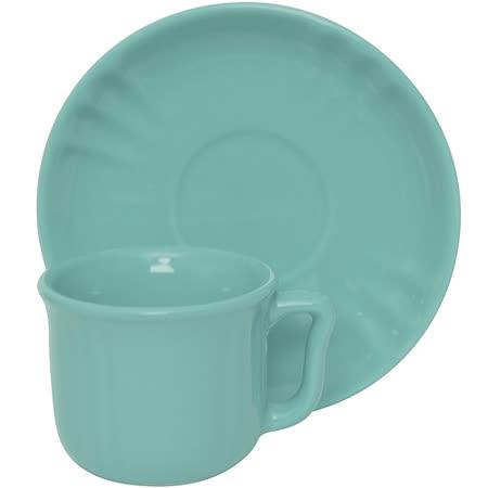 《EXCELSA》Chic陶製咖啡杯碟組(荷綠90ml)