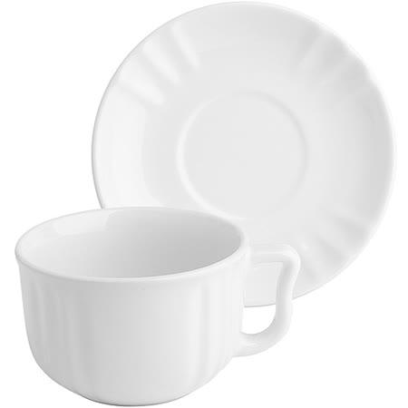 《EXCELSA》Chic陶製咖啡杯碟組(白220ml)