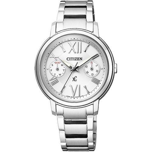 CITIZEN xC 光動能羅馬浪漫日曆女用腕錶~銀32mm FD1090~54A