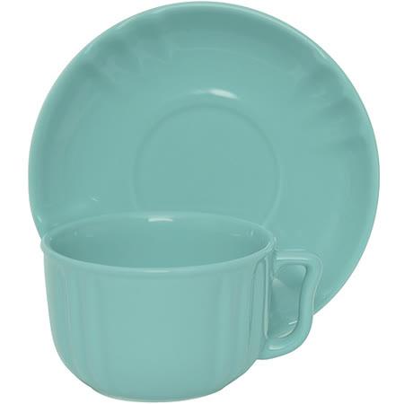 《EXCELSA》Chic陶製咖啡杯碟組(荷綠220ml)