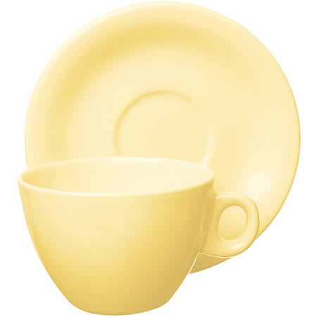《EXCELSA》Trendy陶製咖啡杯碟組(奶油黃220ml)