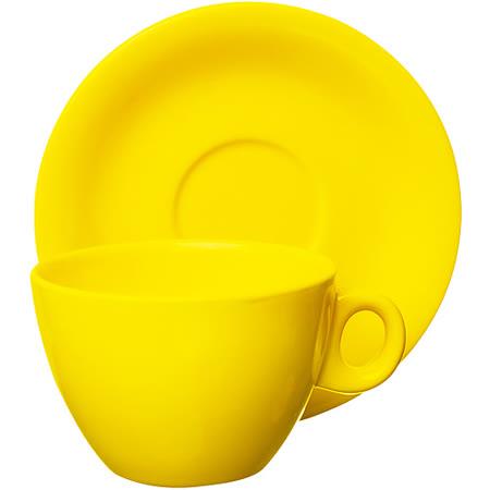 《EXCELSA》Trendy陶製咖啡杯碟組(黃220ml)