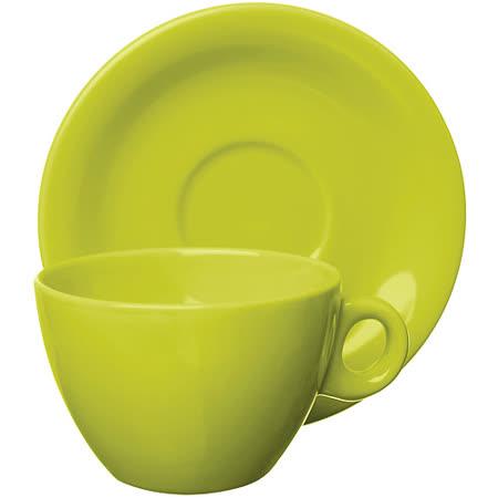 《EXCELSA》Trendy陶製咖啡杯碟組(綠220ml)