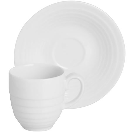 《EXCELSA》Ring瓷製咖啡杯碟組(白80ml)