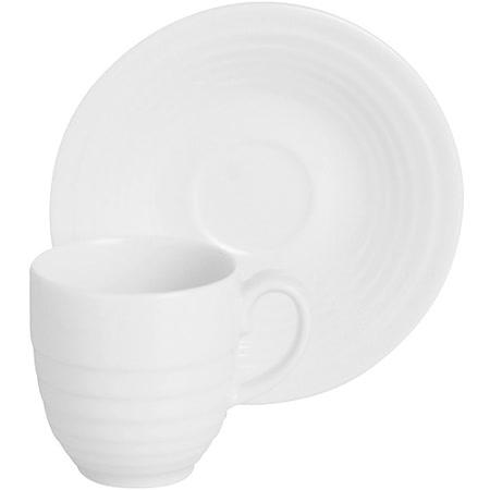 《EXCELSA》Ring瓷製咖啡杯碟組(白200ml)