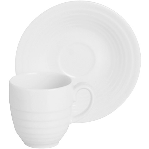 ~EXCELSA~Ring瓷製咖啡杯碟組 白200ml