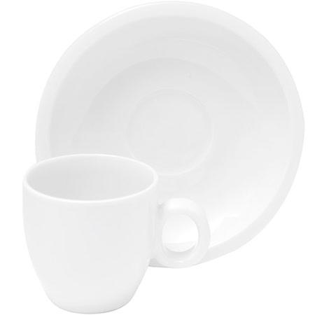 《EXCELSA》Milano瓷製咖啡杯碟組(白80ml)