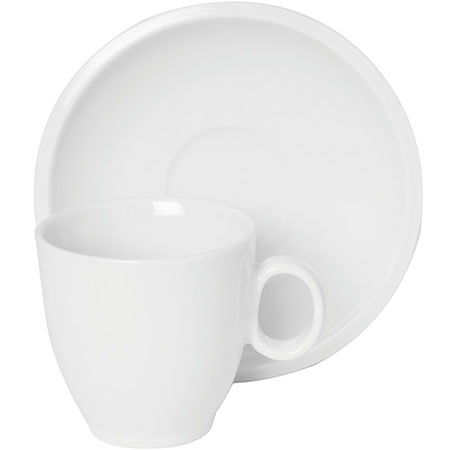《EXCELSA》Milano瓷製咖啡杯碟組(白210ml)