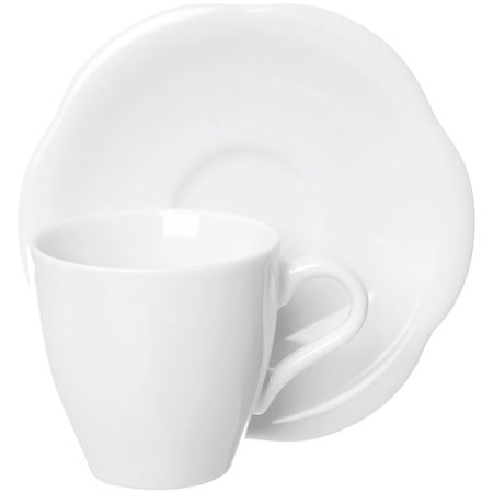 《EXCELSA》Orion瓷製咖啡杯碟組(白80ml)