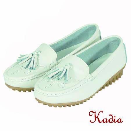 kadia.流蘇真牛皮包鞋(白色)