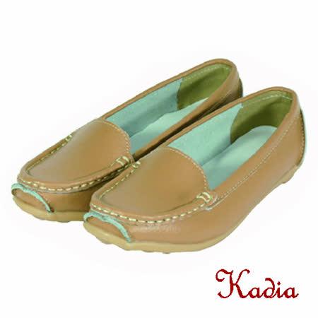 kadia.素面真牛皮休閒鞋(棕色)