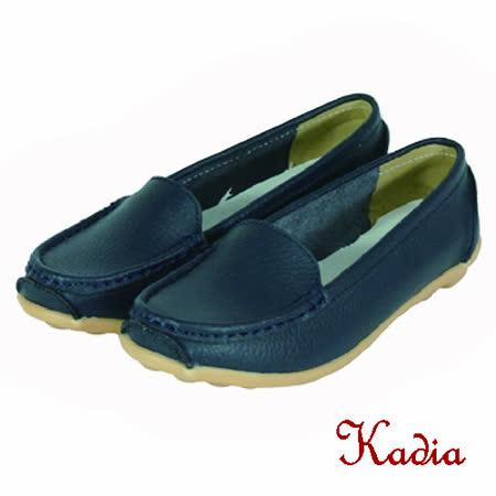 kadia.素面真牛皮休閒鞋(深藍色)