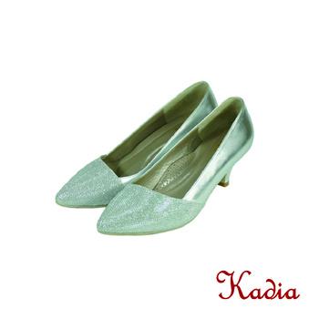 kadia. 雅緻亮面尖頭高跟鞋(銀色)