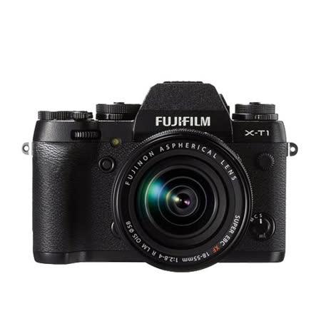 FUJIFILM X-T1+XF18-55mm 變焦鏡組(中文平輸) - 加送SD64G-C10記憶卡+副電+單眼相機包+專屬拭鏡筆+減壓背帶+大吹球+相機清潔組+硬式保護貼