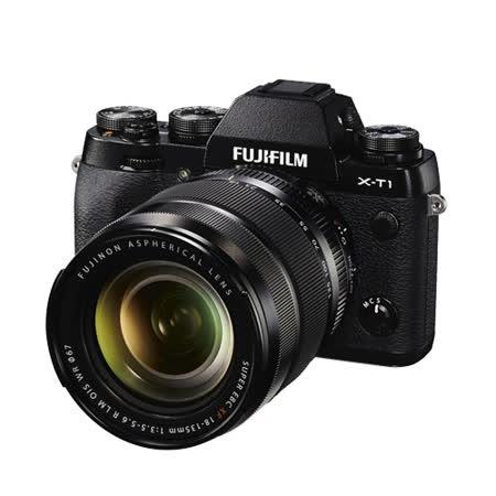FUJIFILM X-T1+18-135mm WR(中文平輸) - 加送SD64GC10記憶卡+專屬鋰電池+單眼相機包+減壓背帶+專用拭鏡筆+相機清潔組+高透光保護貼