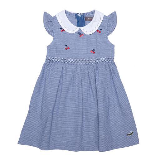 『小鱷魚童裝』千鳥格洋裝(02號~10號)369317