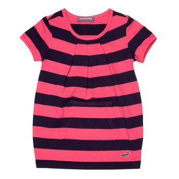 『小鱷魚童裝』壓摺條紋洋裝(02號~08號)339307