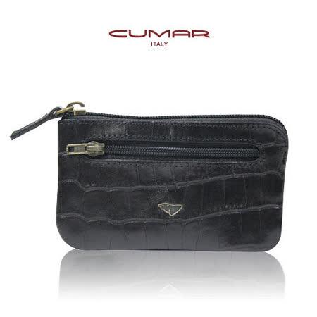 CUMAR牛皮壓印鱷魚紋-荷蘭梵谷系列(零錢鑰匙包)0496-B7501
