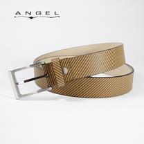 ANGEL義式牛皮壓印斜紋皮帶0566-97002