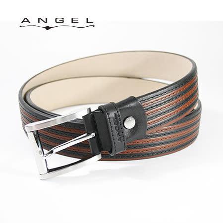 ANGEL義式雙色車縫穿針休閒皮帶0566-97301