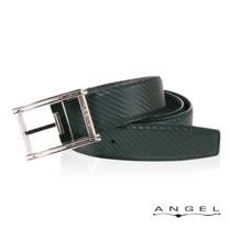 ANGEL精選型男休閒皮帶(菱格斜紋)B2701-4