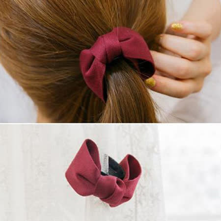 【PS Mall】韓版新款 時尚甜美淑女蝴蝶結可愛純色髮夾頂夾香蕉夾小號 (G1894)