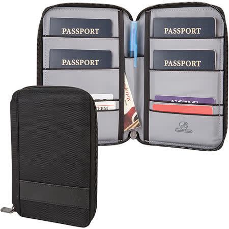 《TRAVELON》網拼拉鍊防盜證件護照夾(黑)