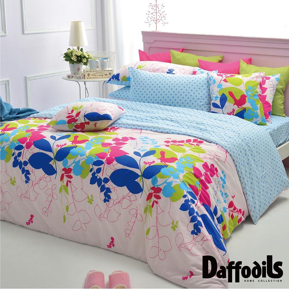 Daffodils 夏沐漾語 雙人加大三件式純棉床包組,精梳純棉 精製