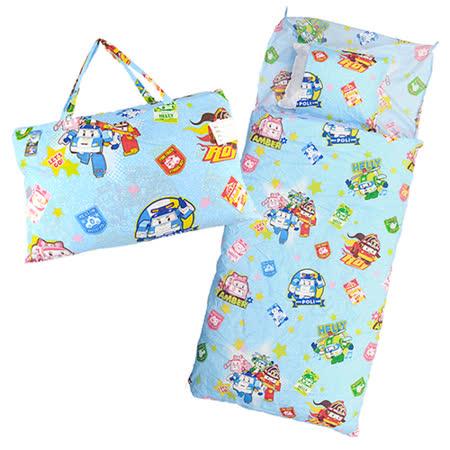 【BabyTiger虎兒寶】卡通造型幼教兒童睡袋- POLI 救援小英雄 波力 ROBOCAR