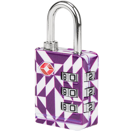 《TR板橋 遠 百 營業 時間AVELON》TSA三碼防盜密碼鎖(紫晶)
