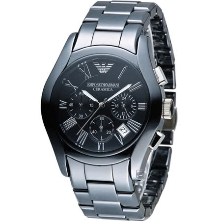 EMPORIO ARMANI Ceramica 自我風格陶瓷計時腕錶 AR1400