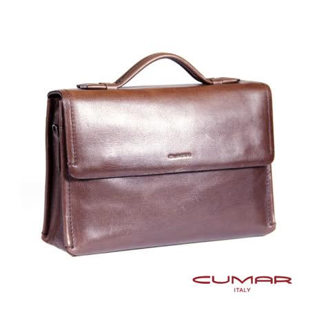 CUMAR全皮雙磁釦公事包 0296-A1802